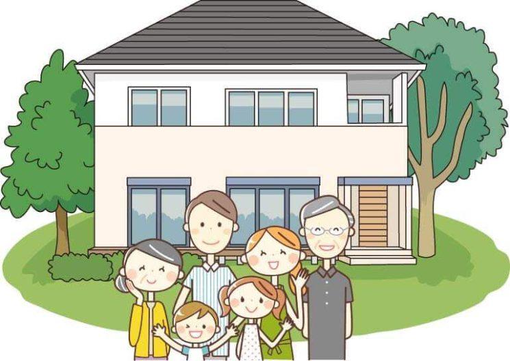 若い夫婦とその両親が暮らす2世帯住宅